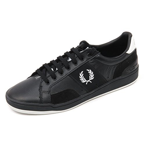 Fred Perry C3962 Sneaker Uomo Scarpa Nero Pelle Shoe Man [41 EU]