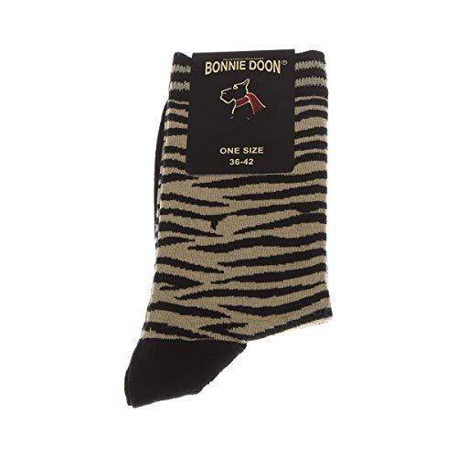 Bonnie Doon Socke Kurz - 1 paar - Fußrücken anziehen - Verziert - Coton - Noir - Zebra sock - 36/42