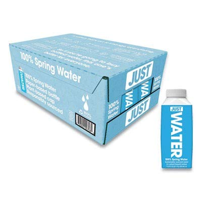 JUST Water, Premium Pure Still Spring Water in an Eco-Friendly BPA Free Plant-Based Bottle - Naturally Alkaline, High 8.0 pH - Fully Recyclable Boxed Water Carton, 11.2 Fluid Ounces (Pack of 24)