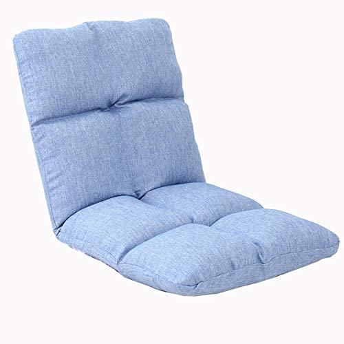 LJFYXZ Canapé Paresseux Chaise Réglage à 5 Vitesses Chambre dortoir Coussin Canapé Simple Facile à enlever et à Laver Balcon du Salon Canapé de Sol (Couleur : Bleu Clair)