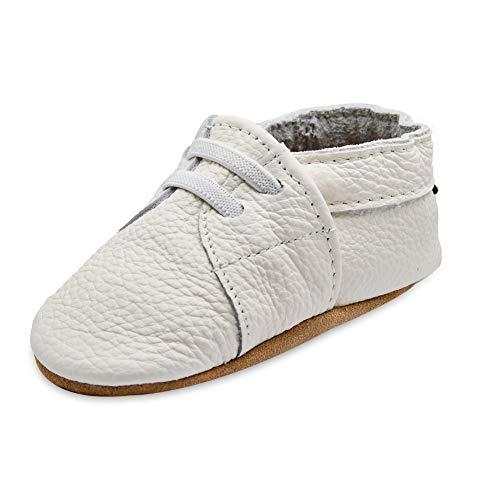 iEvolve Baby Mädchen Jungen Elefant Babyschuhe Baby Weiche Sohle Lederschuhe Baby Lauflernschuhe Krabbelschuhe(Weiß Sneaker,12-18 Monate)