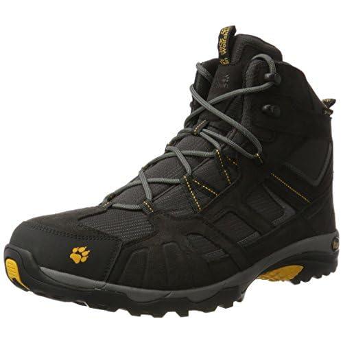 Jack Wolfskin VOJO HIKE MID TEXAPORE, Scarponcini da escursionismo e camminata Uomo, Grigio (Grau (burly yellow 3800)), 47 EU