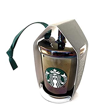 Starbucks 2019 Black Luster Cold Cup Limited Edition Christmas Tree Ceramic Ornament