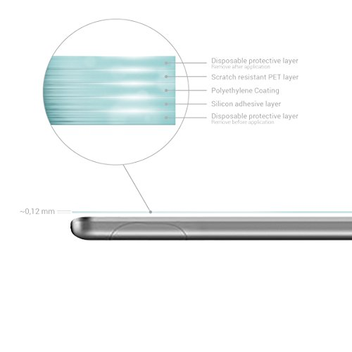kwmobile 2x Huawei MediaPad T3 7.0 Folie - Full Screen Tablet Schutzfolie für Huawei MediaPad T3 7.0 entspiegelt - 3