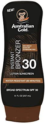Australian Gold Sunscreen Lotion with Instant Bronzer SPF 30 8 Ounce Broad Spectrum Water Resistant product image