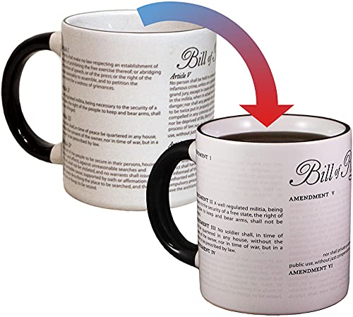 Disappearing Civil Liberties Coffee Mug - Add Hot Water and Watch Your Civil Liberties Disappear Before Yours Eyes - Comes in a Fun Gift Box