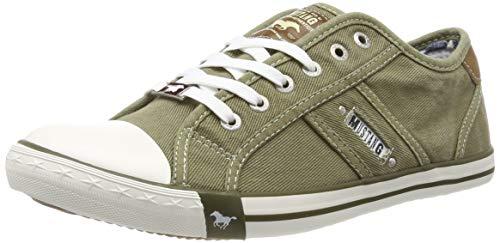 MUSTANG Herren 4058-305-777 Sneaker, Grün (Khaki 777), 45 EU
