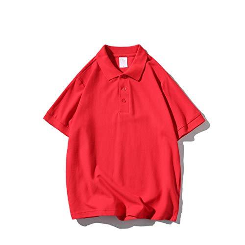 SSBZYES Camisetas para Hombre Camisetas De Manga Corta De Verano Camisetas Polo Camisetas De Color Puro Camisetas De Algodón Puro Camisetas De Polo De Manga Corta con Solapa Camisetas De Color