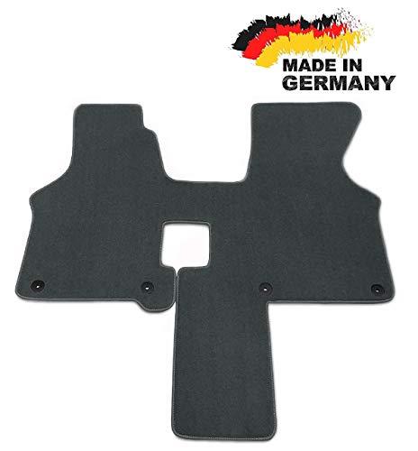 Car Styling Fußmatte T4 2 Sitzer Schaltgetriebe GRAU Premium Velours Hochwertige Graue Umrandung