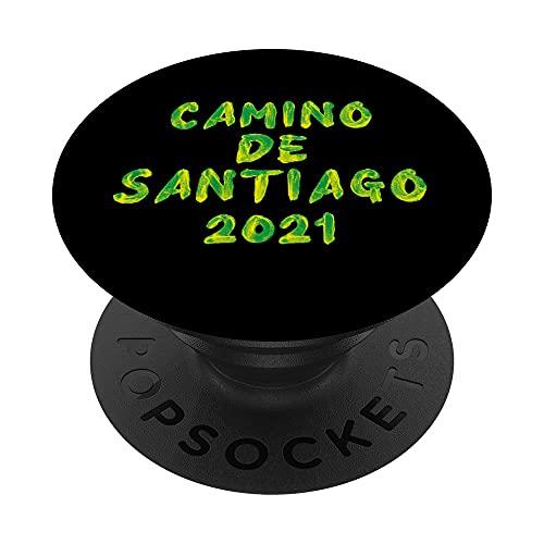 Camino de Santiago de Compostela Pilgrim Way St James 2021 PopSockets PopGrip: Agarre intercambiable para Teléfonos y Tabletas