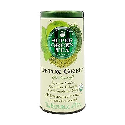 Republic Of Tea, Tea Detox Green Organic, 36 Count by The Republic Of Tea