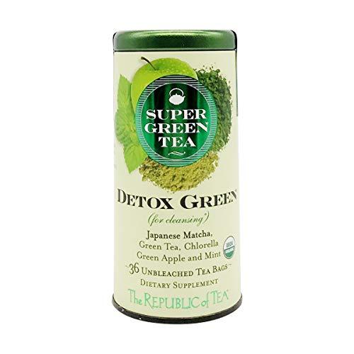 The Republic of Tea Detox Green Supergreen Tea, 36 Tea Bags, Matcha And Chlorella Tea Blend