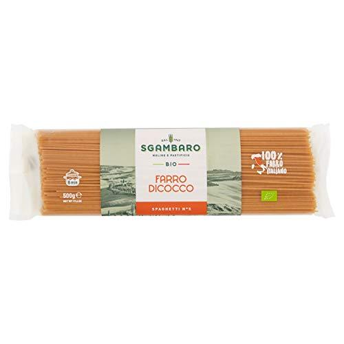 Sgambaro Pasta Farro Dicoccum Bio Spaghetti, No. 5 - 500 gr
