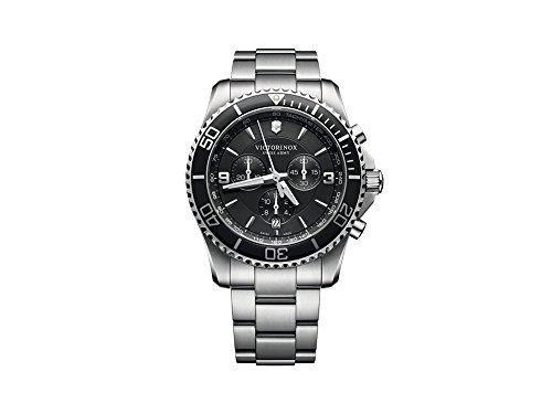 Victorinox Maverick Reloj para Hombre Analógico de Cuarzo con Brazalete de Acero Inoxidable V241695