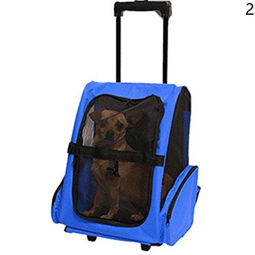 Snow Island tragbar Transporttasche für Haustiere Hund Katze Rolling Rucksack Travel Airline Rad Gepäck Tasche