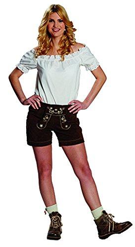 Lederhose Damen Gr. L Trachtenoutfit Oktoberfest Kostüm Frauenlederhose