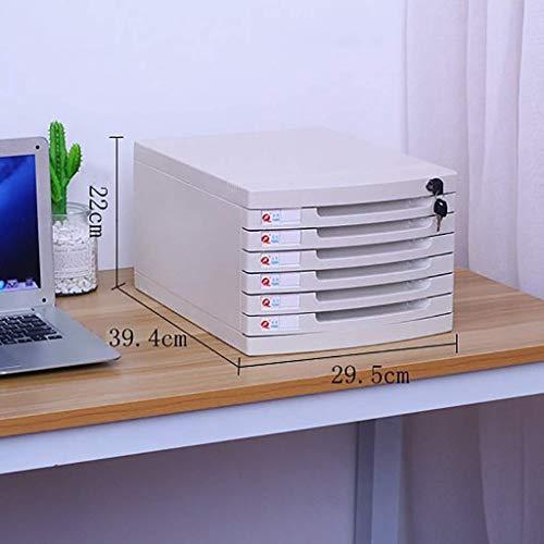 Anmeldekabinett, Magazin-Datei Flat Flat File Desktop Aufbewahrungsbox Möbelarchivkabinett 6 Schubladen, mit Lock High Capacity kann A4-Dateien ein Dateifeld speichern (Farbe: 2) ( Color : 1 )