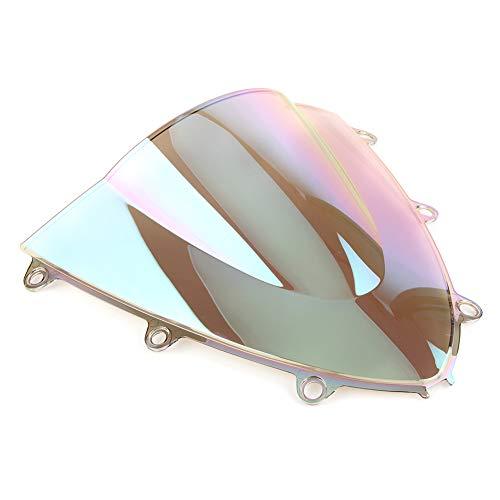 YLHAPPY Motorcycle Windscreen Windshield Double Bubble Compatible con Honda CBR1000 RR CBR 1000RR 2008 2010 2011 ABS PLÁSTICO (Color : Iridium)