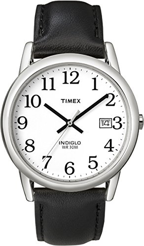 Timex Men's Easy Reader 35 mm Leather Strap Watch T2H281