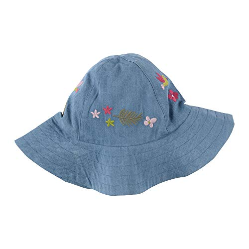 SIGIKID Mini - Mädchen Mütze Sonnenhut Denim Blumen, Größe 46/48 - 54/56