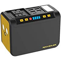 Rocksolar 4019381 80W Portable Power Station with LED Flashlight, USB and DC Output