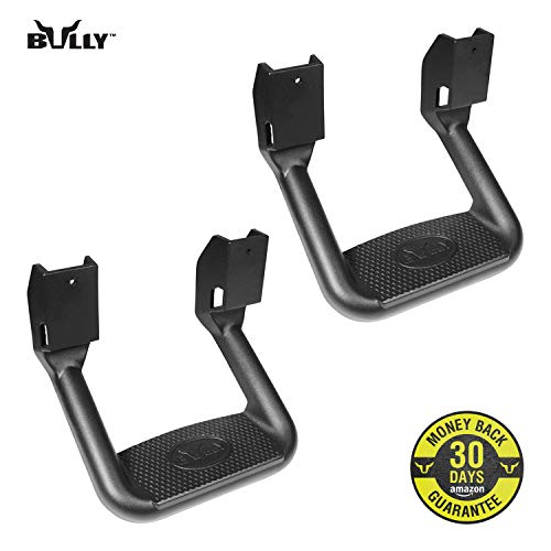 Bully BBS-1103 Universal Truck Black Powder Coated Side Step Set, 2 Pieces (1 Pair), Includes Mounting Brackets - Fits Various Trucks from Chevy (Chevrolet), Ford, Toyota, GMC, Dodge RAM and Jeep