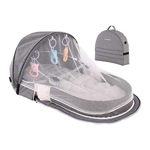 bolso cambiador,mochila para bebe,bolso pañalera bebe,Cama de bebé portátil para nido de bebé, protección solar de viaje, mosquitera con cuna, cesta de dormir infantil plegable y transpirable