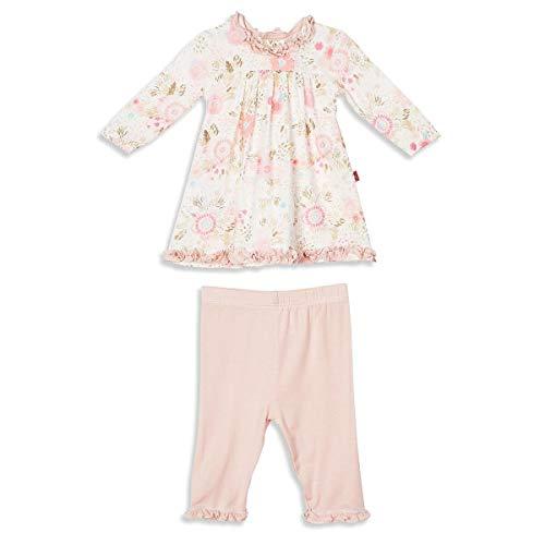 Magnetic Me Baby Girl Dress and Legging Set, Pink Floral