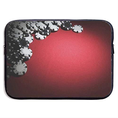HGQHXY.U Poker Wallpapers Laptop Sleeve wasserdichte Neopren-Tauchgewebe-schützende Aktenkoffer-Laptop-Tasche für IPad, Notebook/Ultrabook