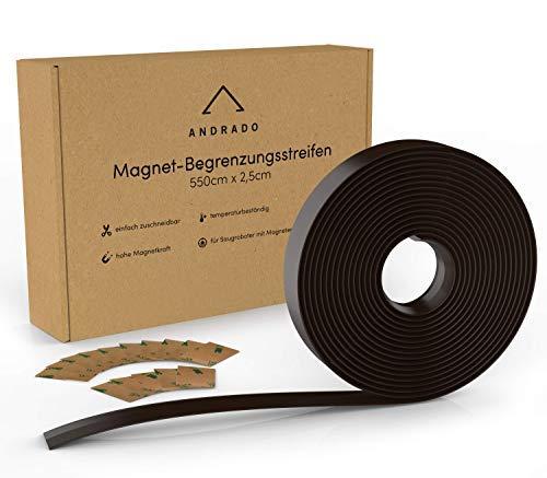 5.5m XXL Saugroboter Magnetband - kompatibel mit Tesvor, Xiaomi Roborock, Proscenic, Neato, Vorwerk, Bagotte - Begrenzungsstreifen für Staubsauger-Roboter (inkl. Klebestreifen) von ANDRADO