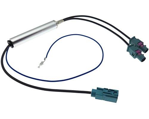 Adaptateur d'antenne double Fakra mâle femelle Alimentation fantôme Antenne Amplificateur
