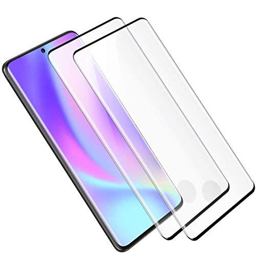 [2 Stück] Schutzglas kompatibel mit Samsung Galaxy S20 Glas, Panzerglas Schutzfolie mit Full Screen Schutz S20, Kratzfest, Blasenfrei, 9H 3D, Folie Displayschutzfolie für Samsung S20 (Schwarz)