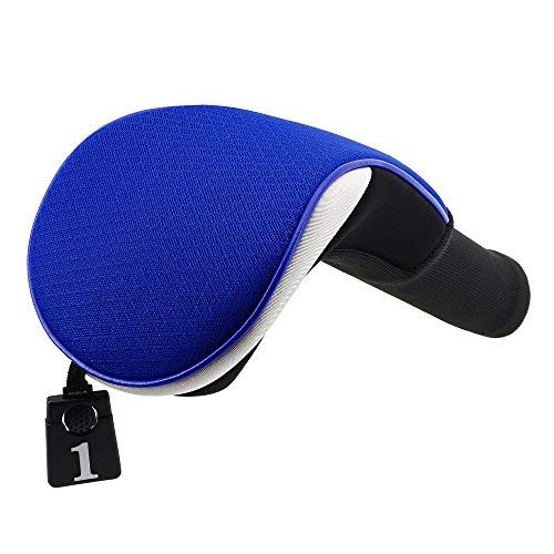 Lightweight Mesh Golf Driver Headcovers Big Teeth Golf Fairway Wood Hybird Head Covers Club Protecter for Taylormade Ping Anser Titleist (Fairway Cover Blue)