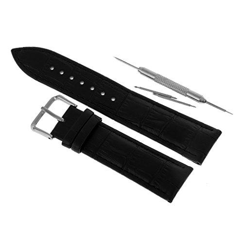 Leder Männer Oder Frauen Langlebiges Armband Für Armband Ersatz Reparatur - Schwarz, 22 mm