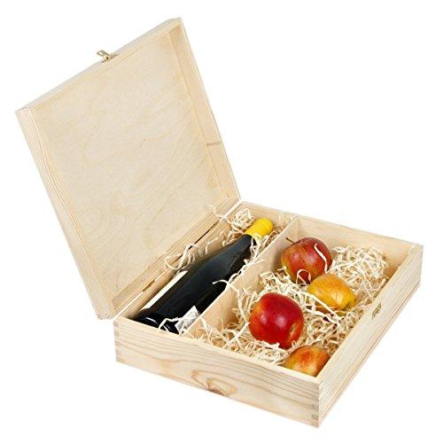 Caja de regalo con una cerradura para 1botella de vino