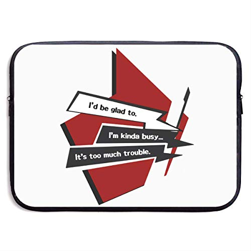 Hdadwy Persona 5 Options Laptop Sleeve Bag Notebook Computer, Water Repellent Polyester Protective Case Cover Theme Design Laptop