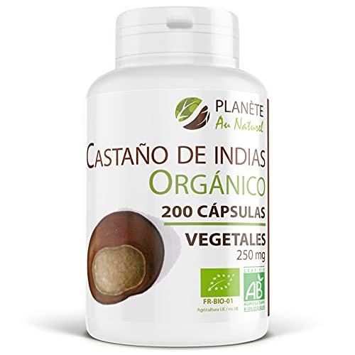 Castaño de Indias Orgánico - Aesculus hippocastanum - 250 mg - 200 cápsulas vegetales