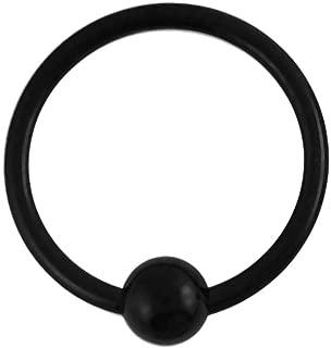 Titan Intime Piercing Oreille Bijoux Anneau Bcr avec Boule 1,6mm Épaisseur,