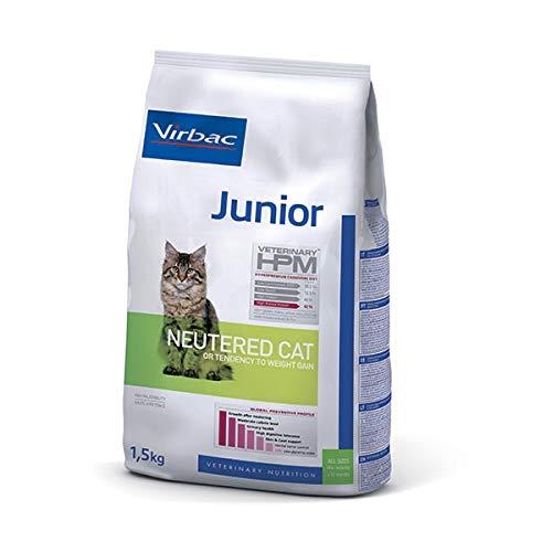 Virbac Veterinary HPM Vet Cat Junior Neutered Nourriture pour Chat 1,5 kg