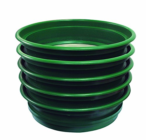 "SE 5-Piece Set of Patented Stackable 13-¼"" Sifting Pans - GP2-5 SET"