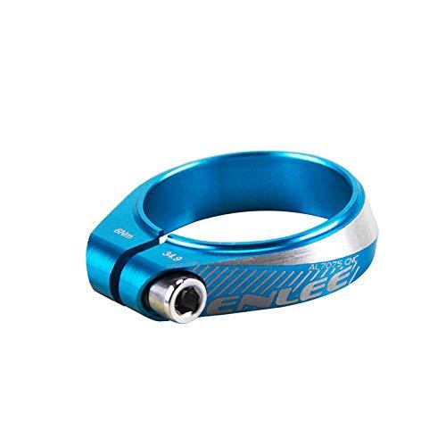 RICH BIT ZDC DH 34.9mm Bicicleta de Montaña Abrazadera Tija Sillín Rápida Liberación Aleación de Aluminio (Azul)