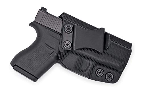 Concealment Express KYDEX Holster Compatible with Glock G43 / G43X IWB KYDEX Holster Carbon Fiber Black/Right Hand/User Adjustable (-5 to +20°)