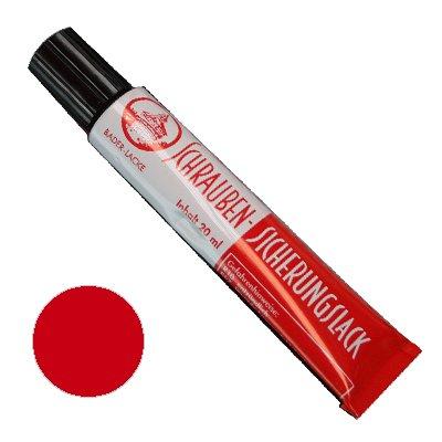 Schraubensicherungslack 20 ml. in Tube rot - Sicherungslack - Schraubenkleber
