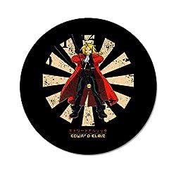 Edward Elric Retro Japanese Wall Clock,Digital Wall Clock, Printed Wall Clocks, Wall Clocks Battery Operated, Wall Clocks for bedrooms, Wall Clocks for Living Room
