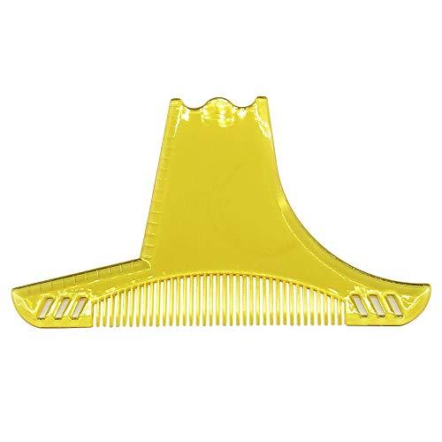Anself Bart Kamm Bart Schablone Bartpflege Bartschablone Bartformen für Kinnbart Koteletten Hals Vollbart