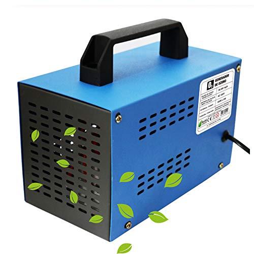 O3 Prime Blue - Generador de ozono Industrial 36,000mg /HR 220v, Limpiador de ozono, Dispositivo de ozono para Habitaciones, Humo, Coches y Mascotas.Tecnologia...