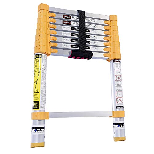 Xtend & Climb Home Series 770P+ Telescoping Ladder, Yellow (Renewed)