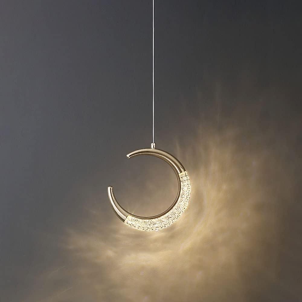 MQJ Lámpara de Techo de Caída de Luz Colgante Led, Luna de Hadas Led Colgante Araña de Araña de Dormitorio Iluminación de la Cama de la Cama, Luces de Suspensión Minimalista para Comedor de Cocina de
