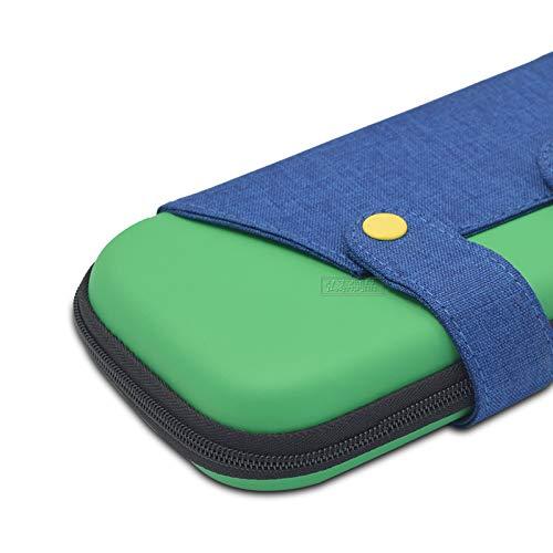 Sxgyubt Aufbewahrungsbox für Switch Lite Mini-Spielkonsole, kontrastfarbenes Design, stoßfest, tragbar, grün, One size