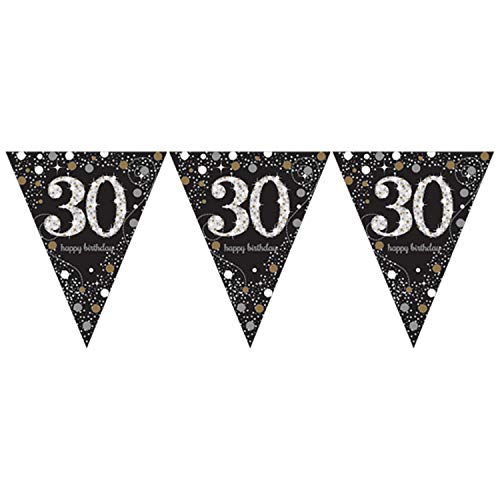 Amscan 9900567 '30. Prismatic Happy Birthday' Wimpel-Banner, 4m